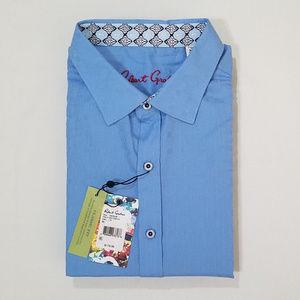 Robert Graham Gikerson Blue s/s Button-Up XL